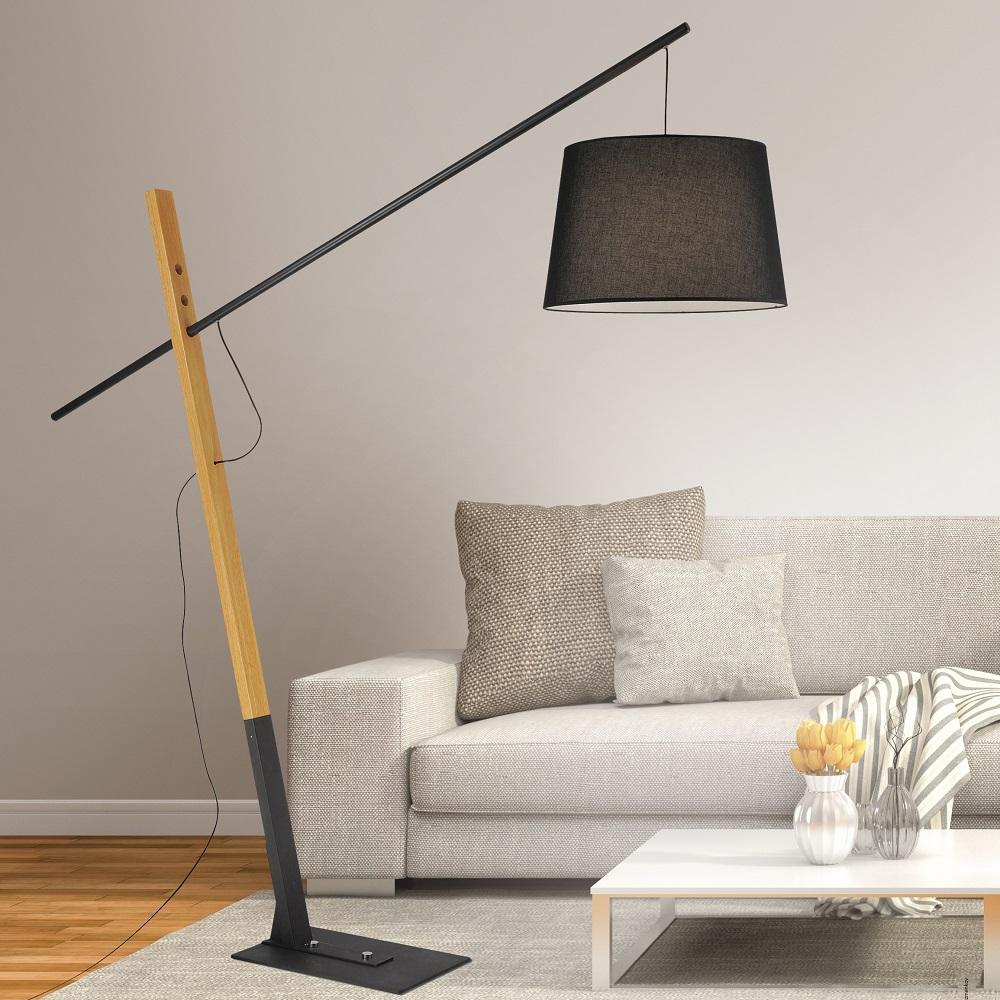 Stehlampe Bogenlampe Holz / Stehlampe Wohnzimmer Design   Holz Und ...