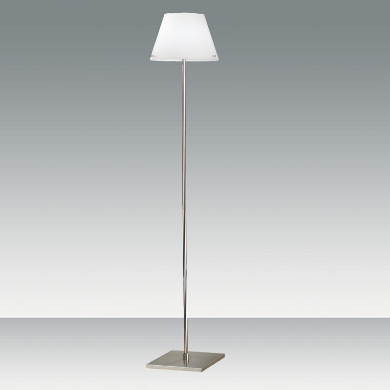stehleuchte mit glas wei mundgeblasen mit dimmer wohnlicht. Black Bedroom Furniture Sets. Home Design Ideas