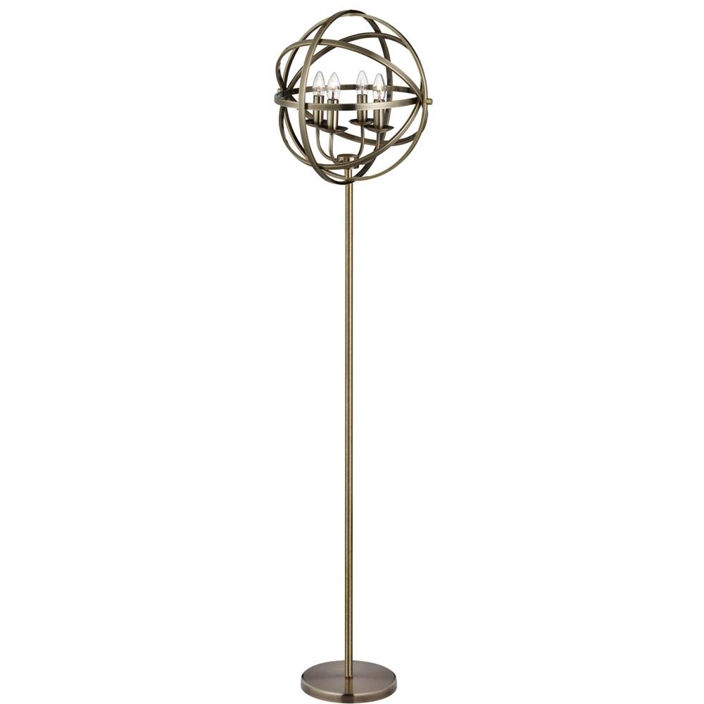 stehleuchte orbit aus metall in messing antik wohnlicht. Black Bedroom Furniture Sets. Home Design Ideas