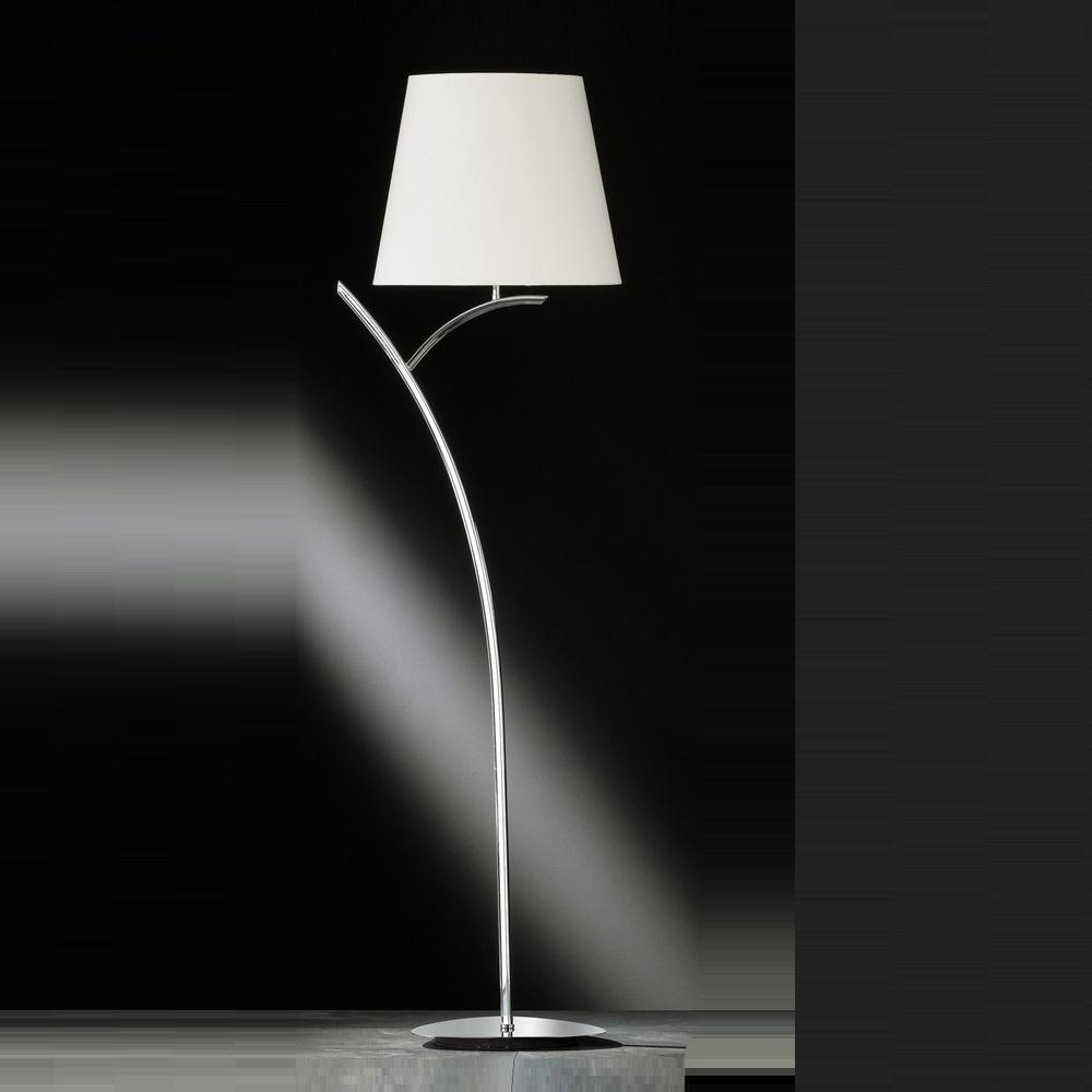 stehleuchte y chrom mit stoffschirm wohnlicht. Black Bedroom Furniture Sets. Home Design Ideas