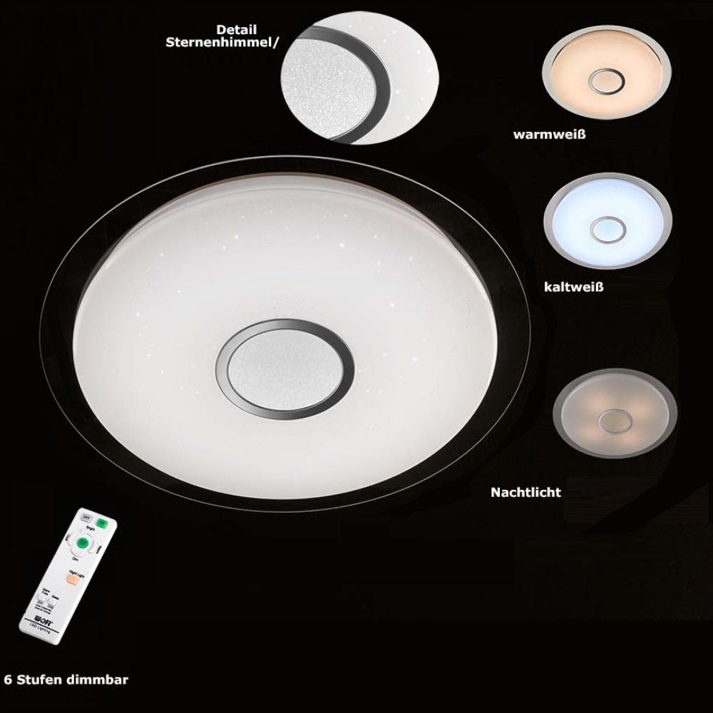 sternenhimmel led deckenleuchte kiana mit fernbedienung wohnlicht. Black Bedroom Furniture Sets. Home Design Ideas