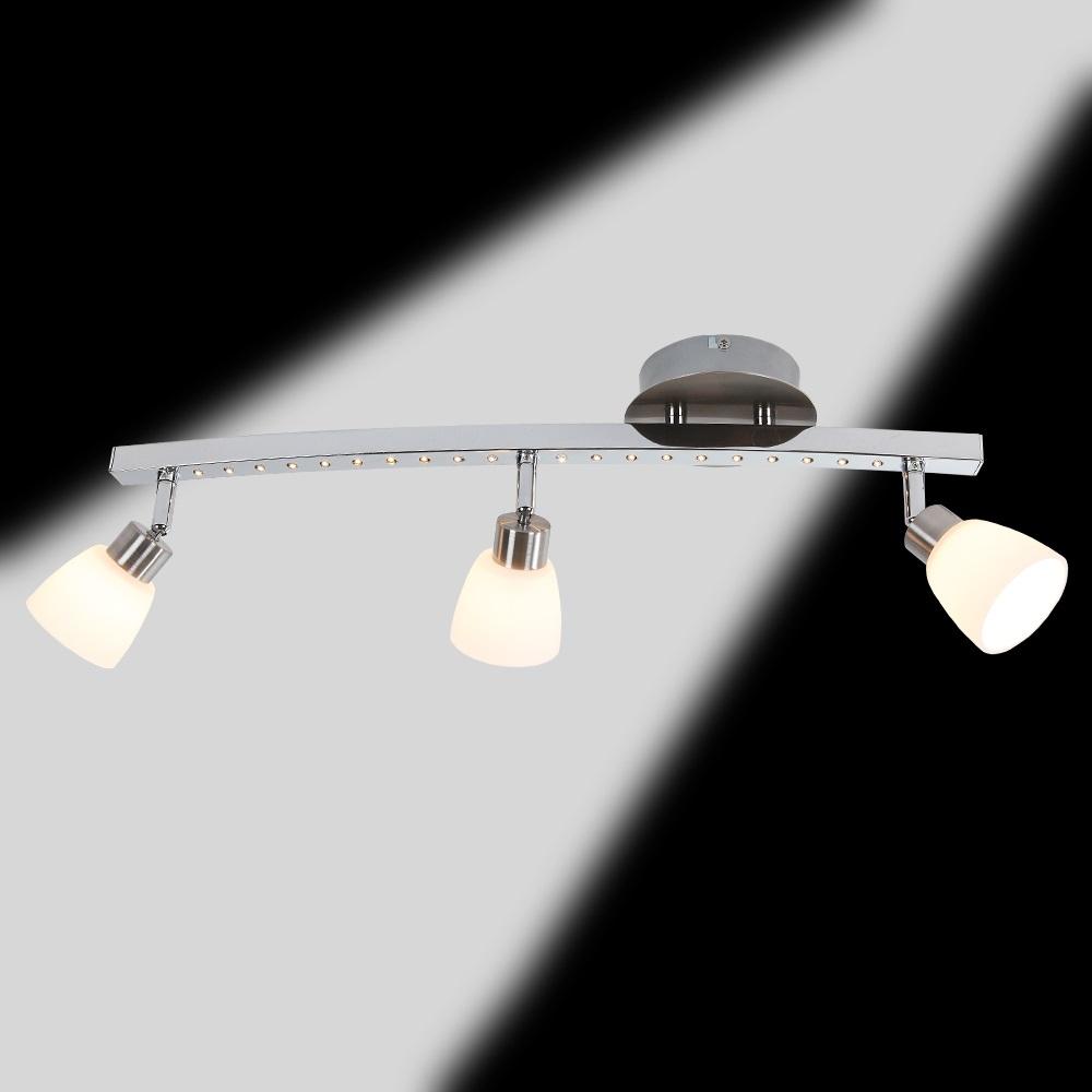 strahler 3 flammig nickel matt und chrom wohnlicht. Black Bedroom Furniture Sets. Home Design Ideas