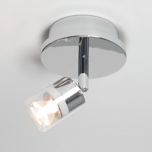 strahlerserie deckenstrahler 1 flammig chrom gl nzend klares glas wohnlicht. Black Bedroom Furniture Sets. Home Design Ideas