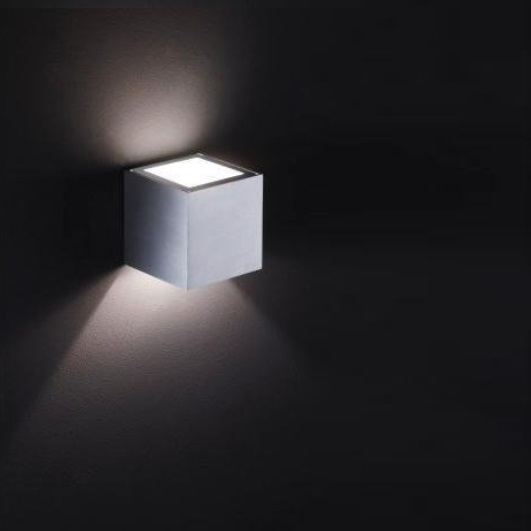 1 streuscheibe f r die up and down wandleuchte in wei matt oder aluminium matt wohnlicht. Black Bedroom Furniture Sets. Home Design Ideas