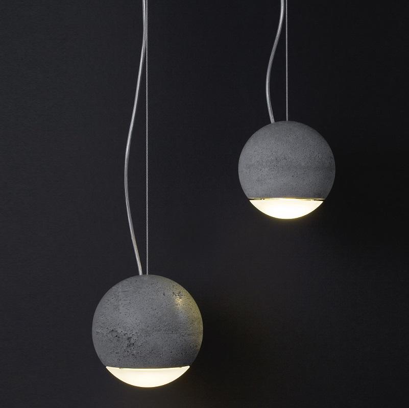 tecnolumen pendelleuchte trabant 2 aus beton wohnlicht. Black Bedroom Furniture Sets. Home Design Ideas