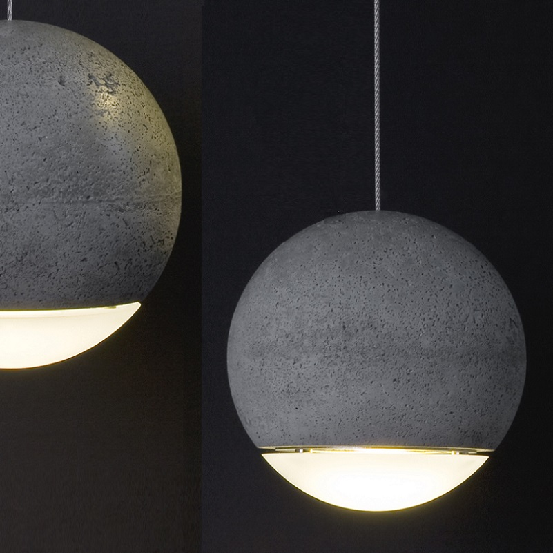 tecnolumen pendelleuchte trabant 3 aus beton wohnlicht. Black Bedroom Furniture Sets. Home Design Ideas