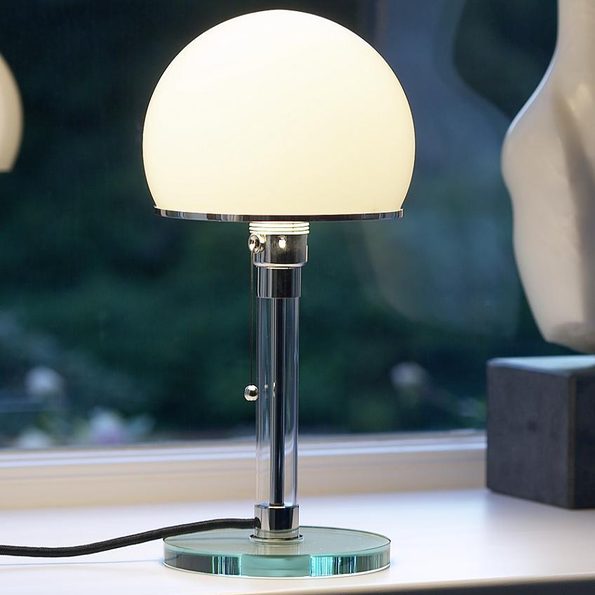 tecnolumen wilhelm wagenfeld 1924 tischleuchte wg24 wohnlicht. Black Bedroom Furniture Sets. Home Design Ideas
