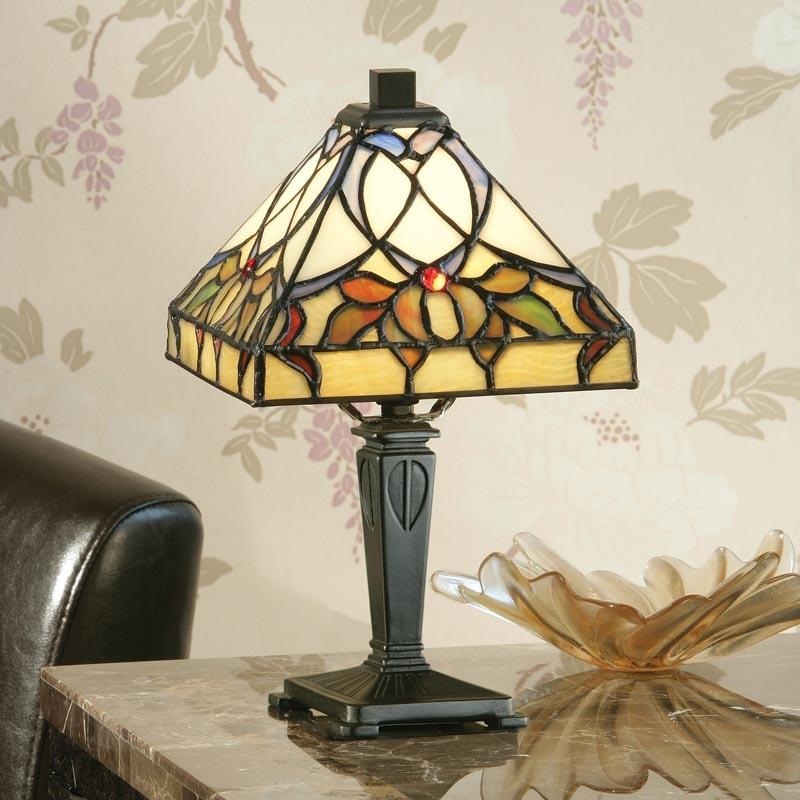tiffany tischleuchte alcea mini wohnlicht. Black Bedroom Furniture Sets. Home Design Ideas