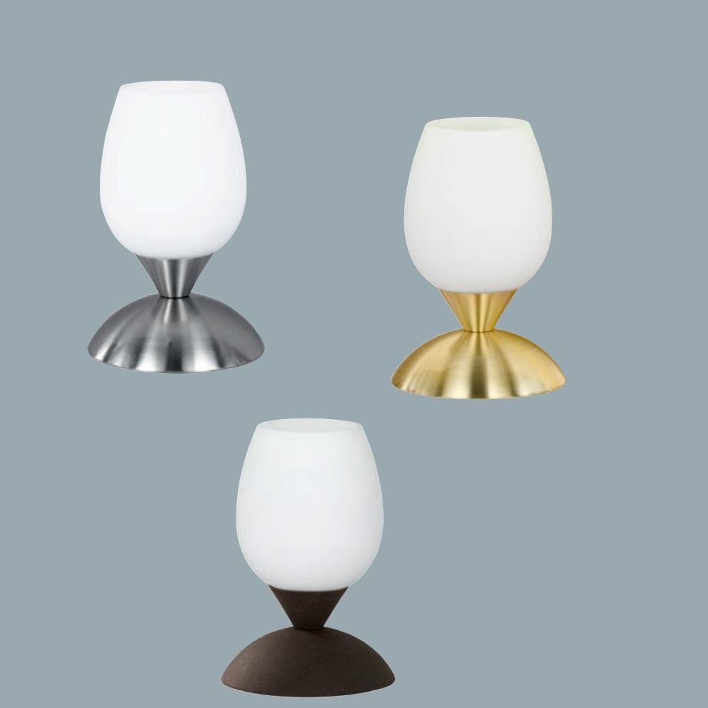 tischlampe aus glas mit touchdimmer in verschiedenen f rbungen wohnlicht. Black Bedroom Furniture Sets. Home Design Ideas