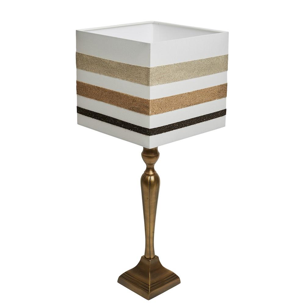 Tischlampe sandmotiv lampenschirm bali meets germany for Lampenschirm tischlampe