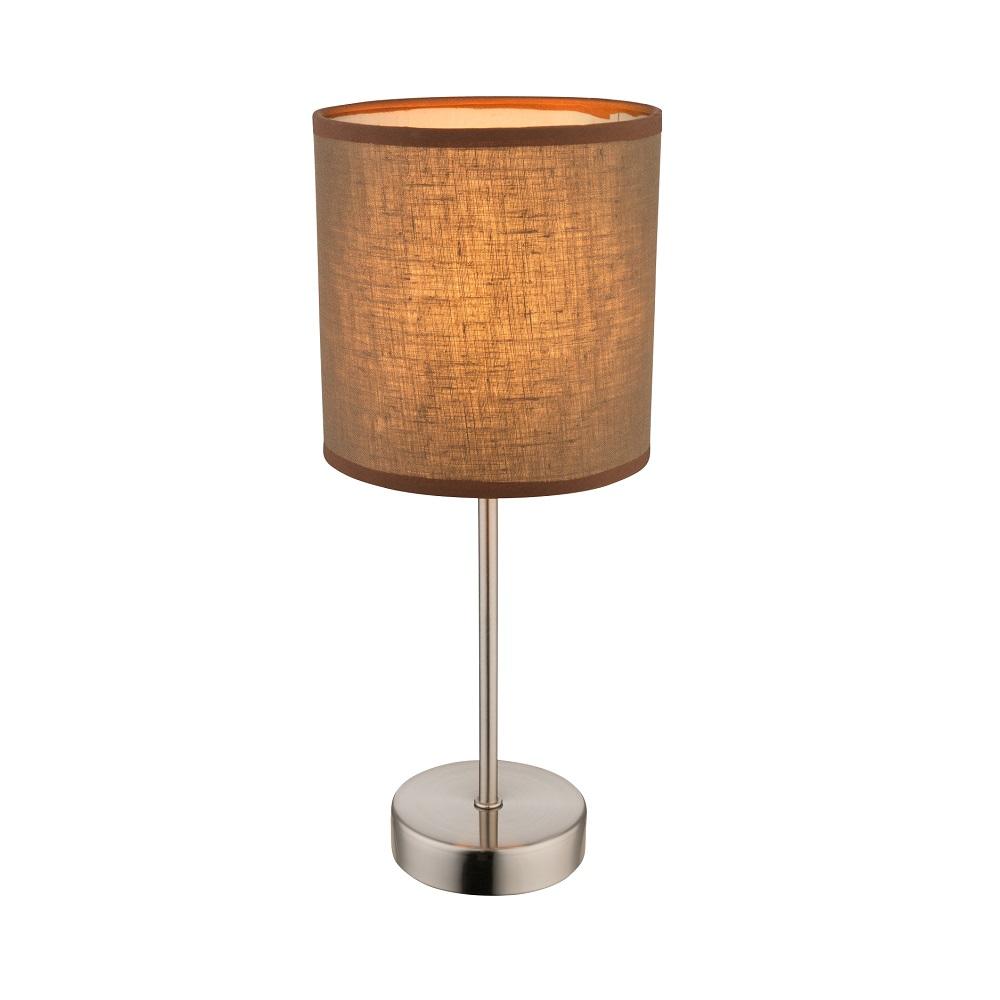 tischleuchte betty mit schirm in braun wohnlicht. Black Bedroom Furniture Sets. Home Design Ideas
