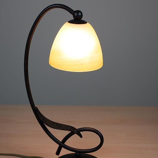 tischleuchte gro im landhausstil inkl leuchtmittel wohnlicht. Black Bedroom Furniture Sets. Home Design Ideas