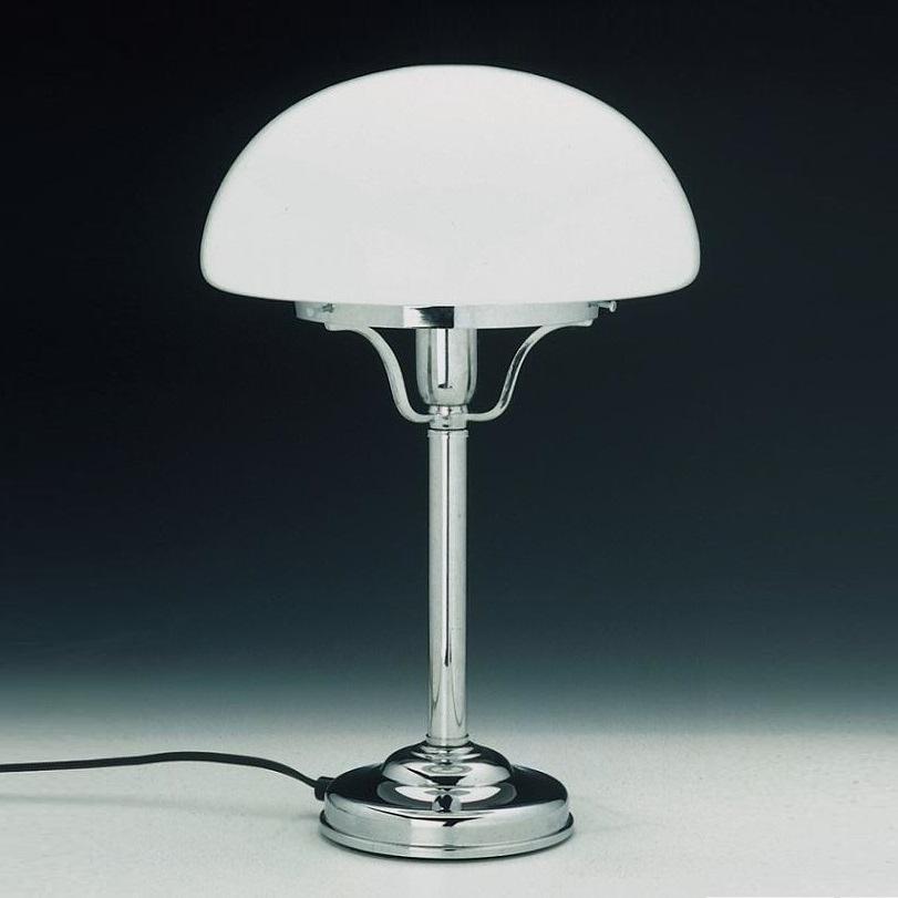 tischleuchte mit glasschirm in pilzform 2 farben wohnlicht. Black Bedroom Furniture Sets. Home Design Ideas