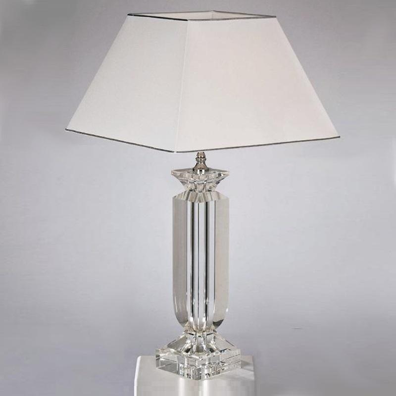 tischleuchte verchromt mit wei em schirm silber wei chrom wohnlicht. Black Bedroom Furniture Sets. Home Design Ideas