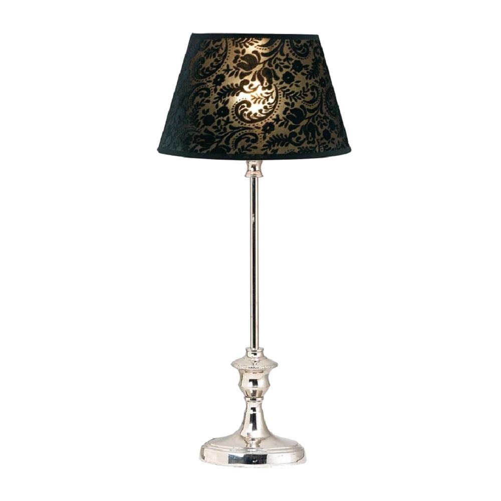 tischleuchte mit ovalem strukturiertem schwarzem schirm h he 46 cm wohnlicht. Black Bedroom Furniture Sets. Home Design Ideas