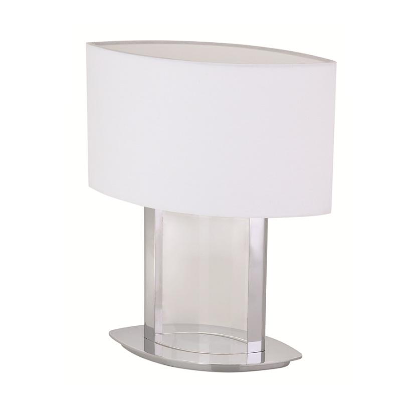 tischleuchte mit stoffschirm und bef llbarem acrylfu 36cm h he wohnlicht. Black Bedroom Furniture Sets. Home Design Ideas