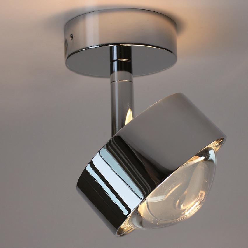 top light led deckenleuchte puk turn in nickel matt nickel matt matt wohnlicht. Black Bedroom Furniture Sets. Home Design Ideas
