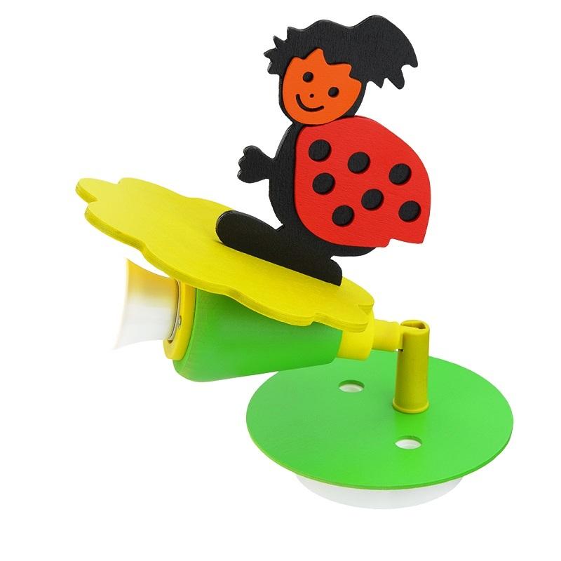 verspielter kinderzimmer spot f r die wand mit s em marienk fer wohnlicht. Black Bedroom Furniture Sets. Home Design Ideas