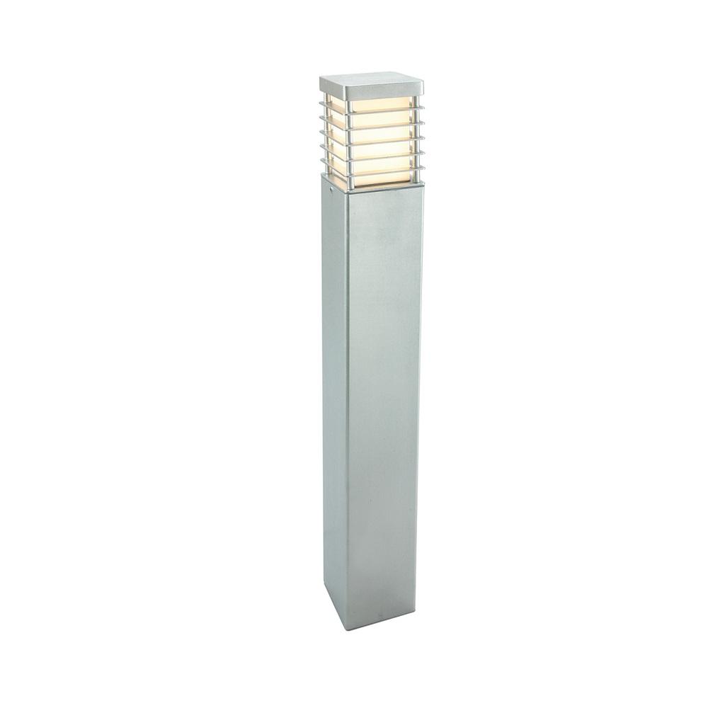 verzinkte wegeleuchte eckig h he 85cm mit e27 sockel wohnlicht. Black Bedroom Furniture Sets. Home Design Ideas