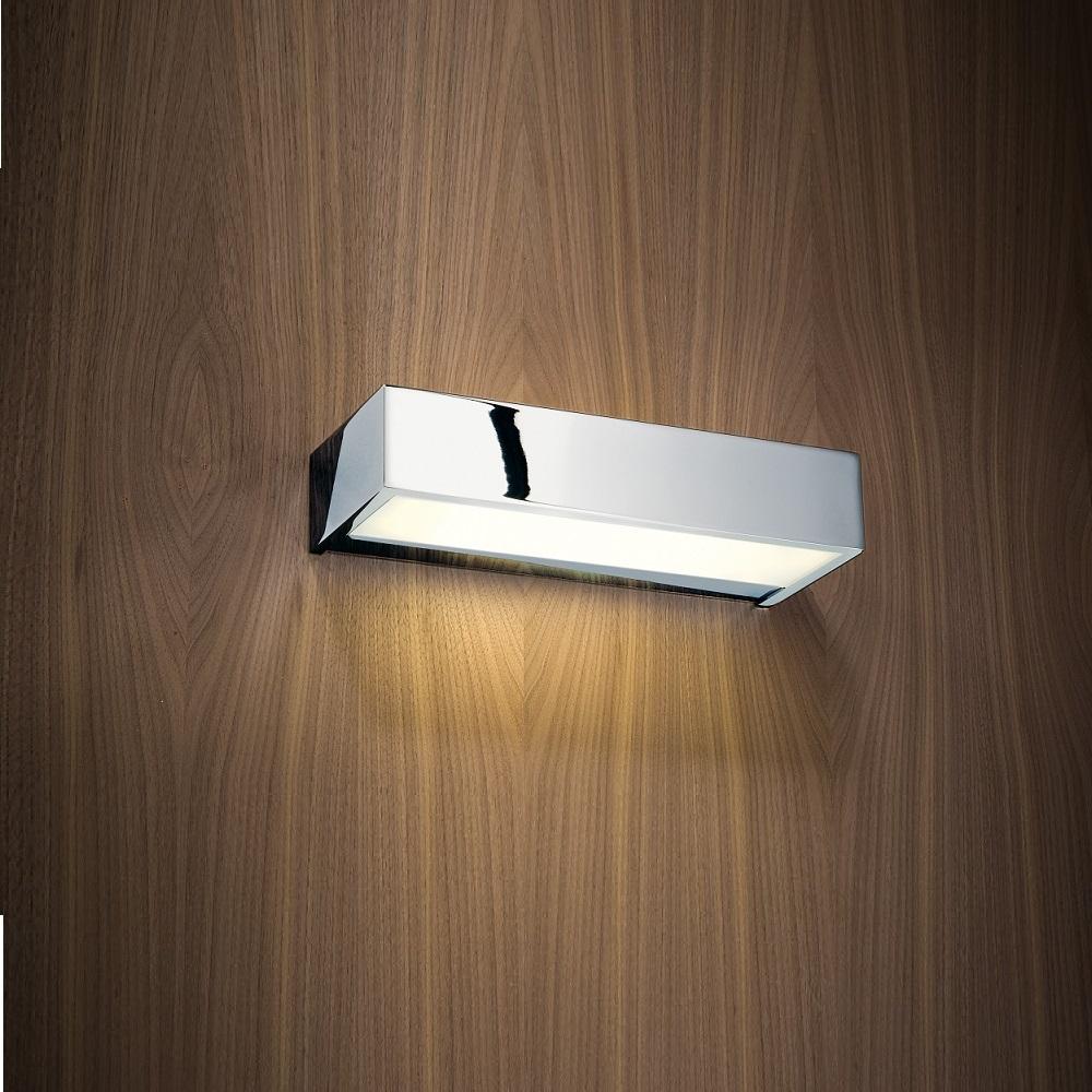 wandleuchte 25cm in chrom mit opalglas wohnlicht. Black Bedroom Furniture Sets. Home Design Ideas