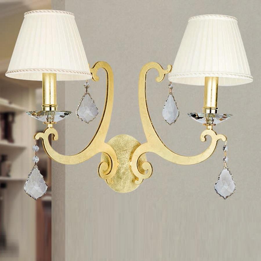 wandleuchte 2 flammig gold plissee stoffschirme in elfenbein wohnlicht. Black Bedroom Furniture Sets. Home Design Ideas