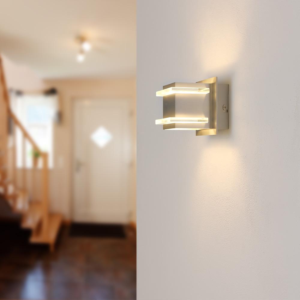 wandleuchte als up and down in grau wohnlicht. Black Bedroom Furniture Sets. Home Design Ideas