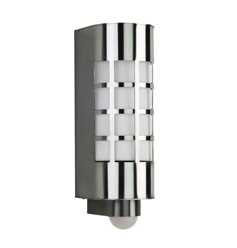 wandleuchte aus edelstahl mit bewegungsmelder wohnlicht. Black Bedroom Furniture Sets. Home Design Ideas