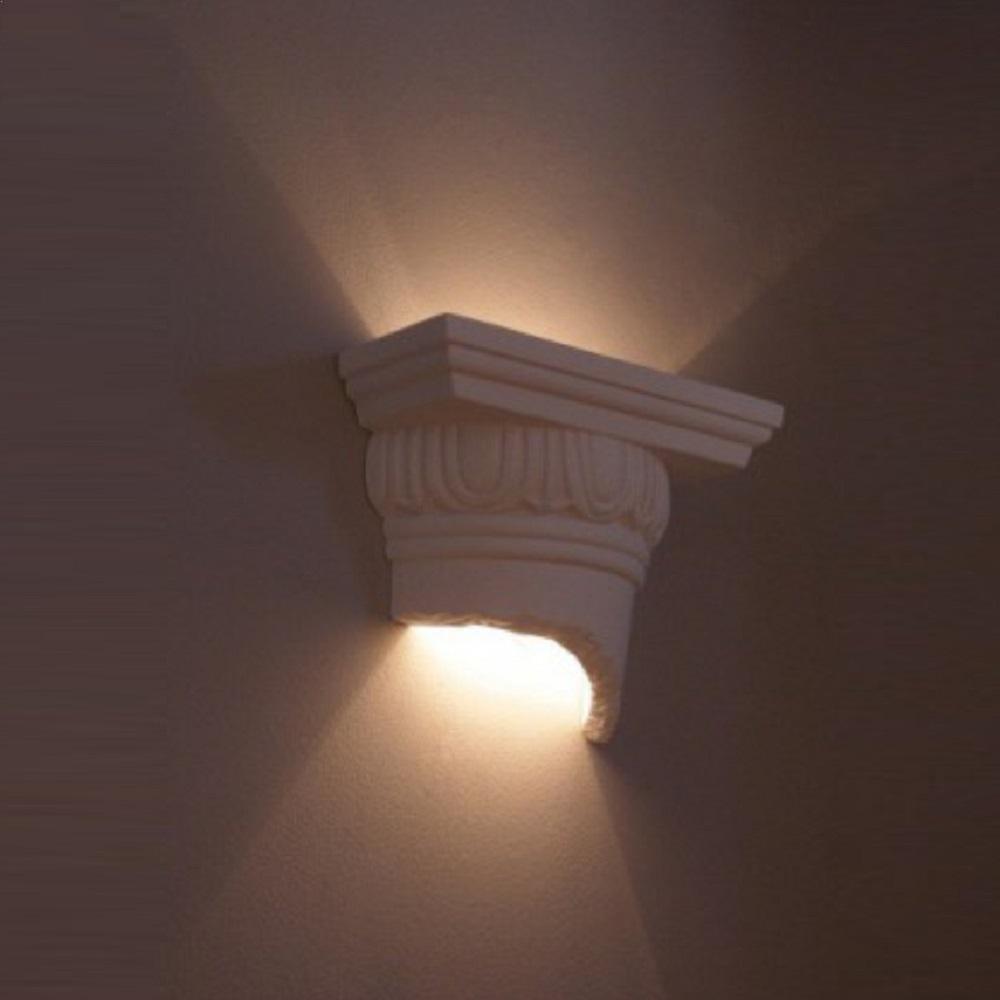 wandleuchte aus gips odyssey wei anstreichbar wohnlicht. Black Bedroom Furniture Sets. Home Design Ideas