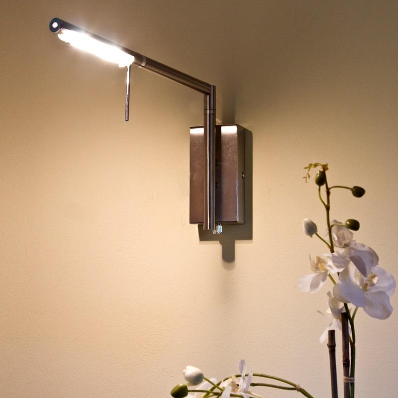 wandleuchte berdien mit drehdimmer ideal zum lesen wohnlicht. Black Bedroom Furniture Sets. Home Design Ideas