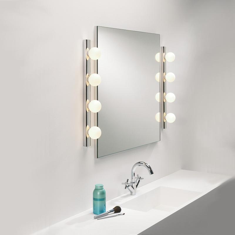 wandleuchte chrom mit kugelglas zugschalter 2 gr en. Black Bedroom Furniture Sets. Home Design Ideas