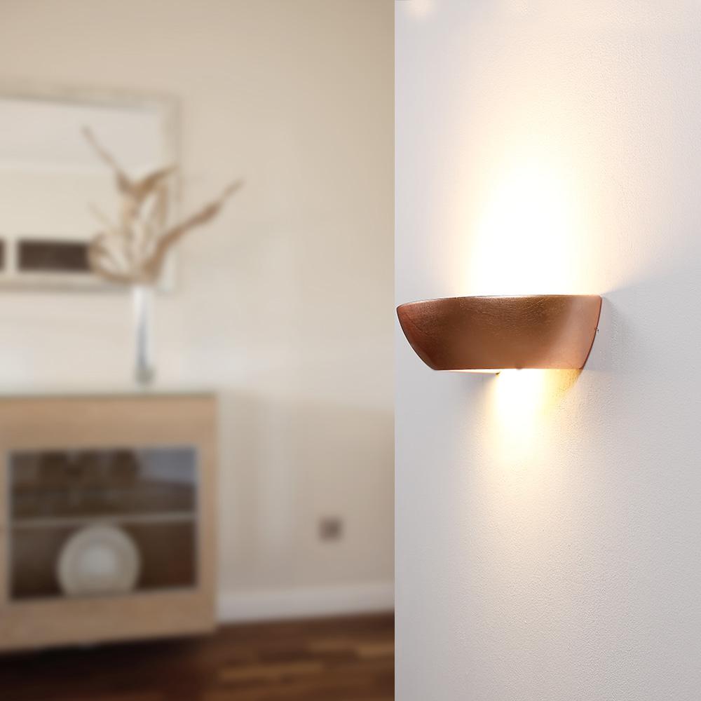 wandleuchte dinas i gips schlagmetall gold 1x 60 watt. Black Bedroom Furniture Sets. Home Design Ideas