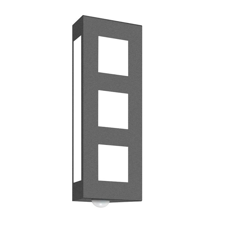 wandleuchte f r au en mit bewegungsmelder wohnlicht. Black Bedroom Furniture Sets. Home Design Ideas