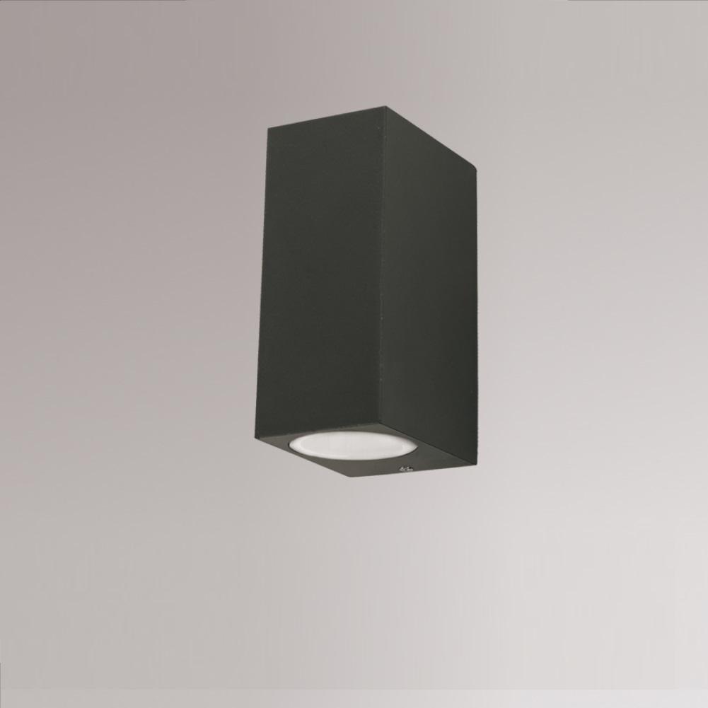 wandleuchte f r den au enbereich mit up and down lichtaustritt inklusive led leuchtmittel. Black Bedroom Furniture Sets. Home Design Ideas