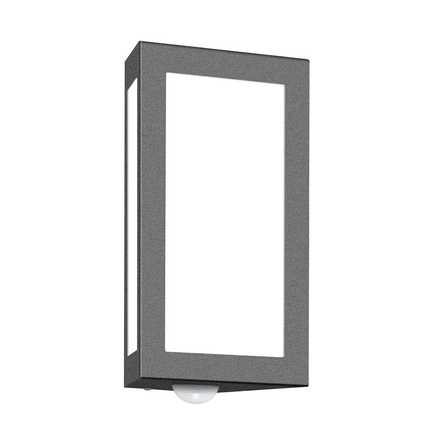 wandleuchte f r den au enbereich alu mit bewegungsmelder wohnlicht. Black Bedroom Furniture Sets. Home Design Ideas
