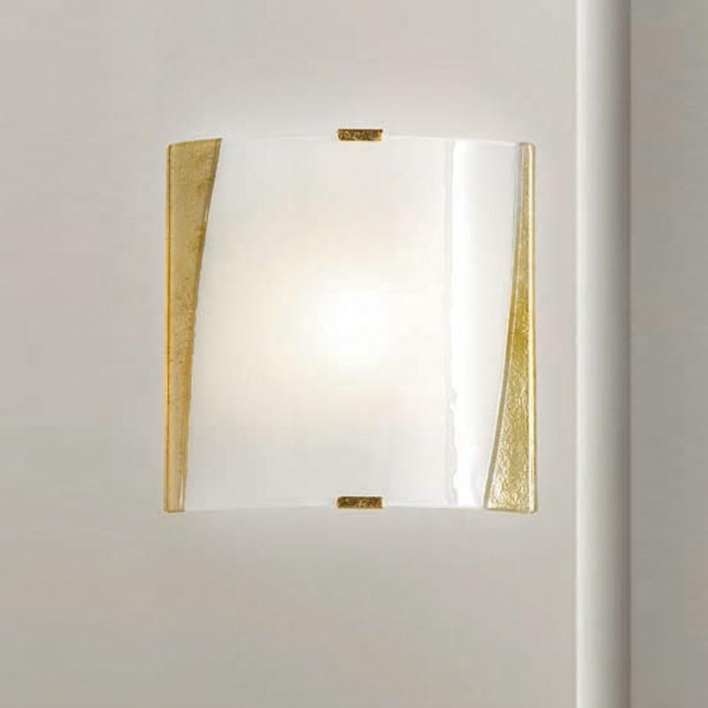 wandleuchte glas mit rahmen gold oder silber wohnlicht. Black Bedroom Furniture Sets. Home Design Ideas