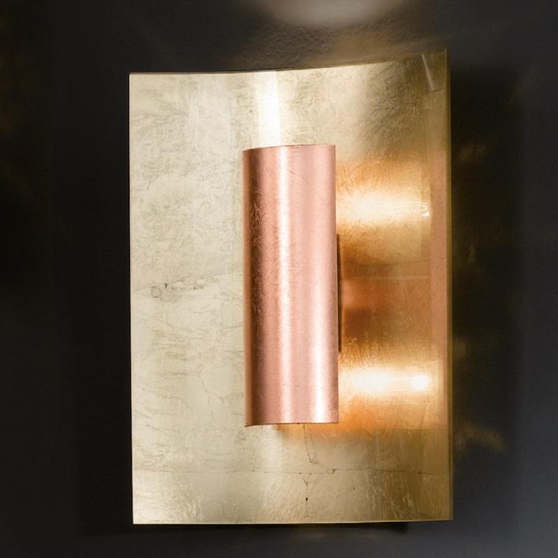 wandleuchte in gold 30x 23cm reflektor gold gold. Black Bedroom Furniture Sets. Home Design Ideas