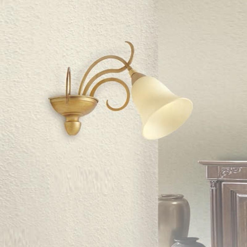 wandleuchte in gold oder elfenbein gold 1 flg wohnlicht. Black Bedroom Furniture Sets. Home Design Ideas