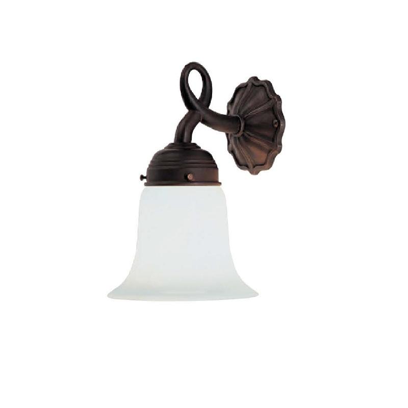 wandleuchte in messing antik mit geschwungenem opalglas 14cm wohnlicht. Black Bedroom Furniture Sets. Home Design Ideas