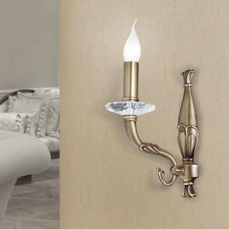wandleuchte messing antik oder wei 1 oder 2 flammig wohnlicht. Black Bedroom Furniture Sets. Home Design Ideas