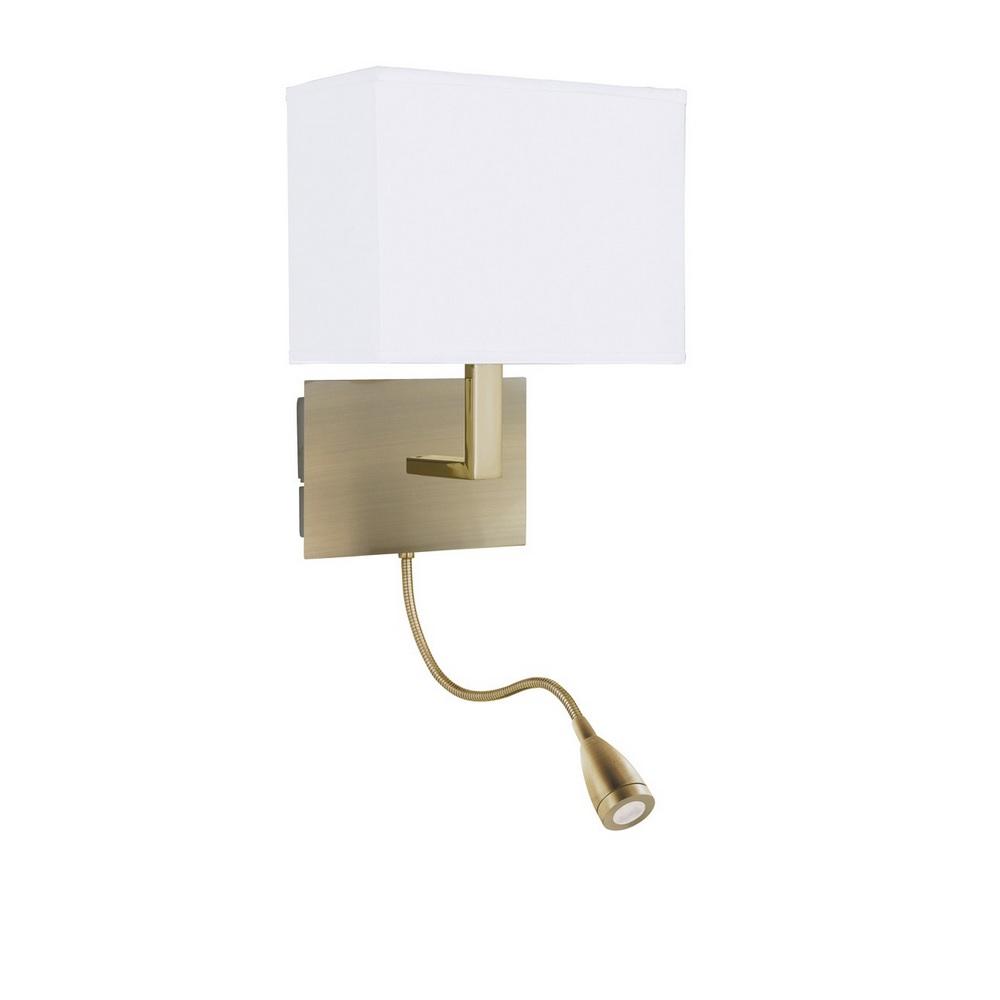 Wandleuchte mit flexiblen led leuchtenarm lampenschirm for Led lampenschirm