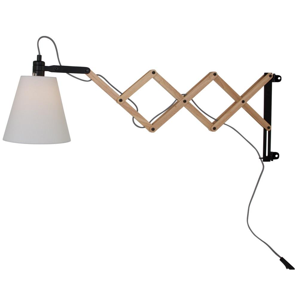 wandleuchte mit holz ausziehbar wohnlicht. Black Bedroom Furniture Sets. Home Design Ideas