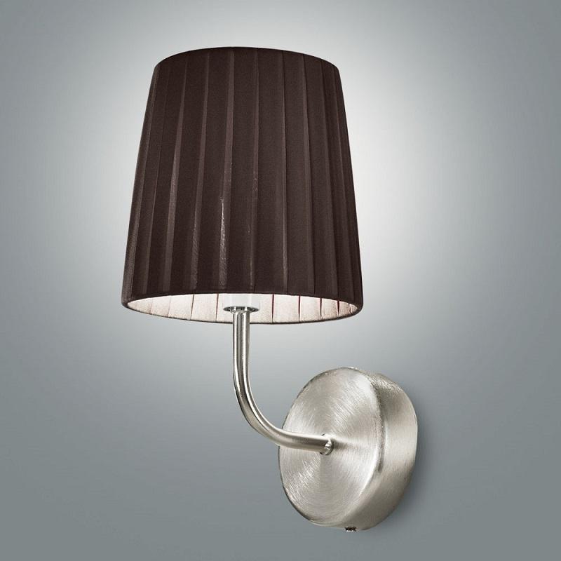 wandleuchte mit plissee stoff lampenschirm 3 farben wohnlicht. Black Bedroom Furniture Sets. Home Design Ideas