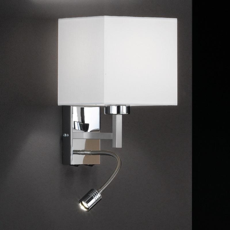 Wandleuchte mit zus tzlichen led flexarm lampenschirm for Led lampenschirm
