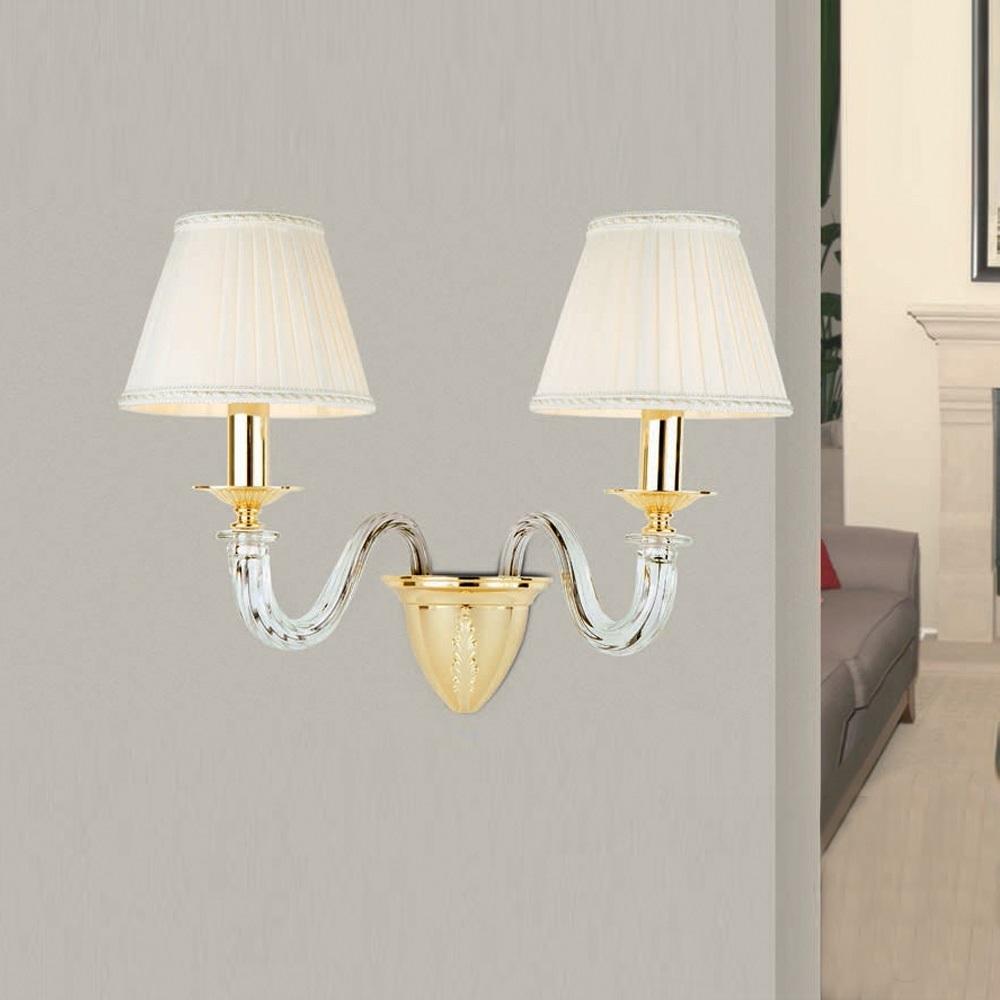 hochwertige wandleuchte 1 flammig silber antik gold 24k lampenschirm wei 1x 40 watt. Black Bedroom Furniture Sets. Home Design Ideas