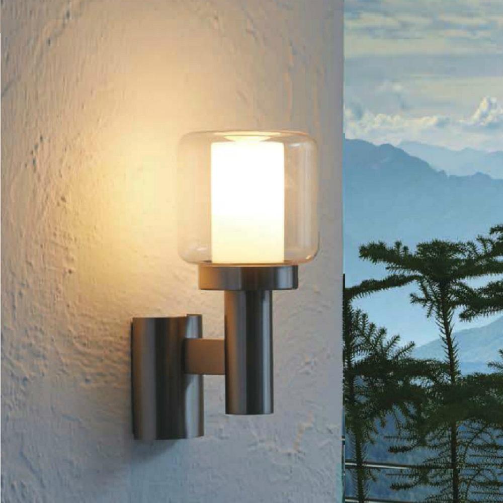 wandleuchte poliento mit ohne bewegungsmelder wohnlicht. Black Bedroom Furniture Sets. Home Design Ideas
