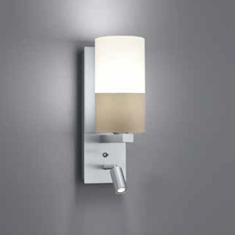 wandleuchte resident mit stoffschirm und led strahler wohnlicht. Black Bedroom Furniture Sets. Home Design Ideas