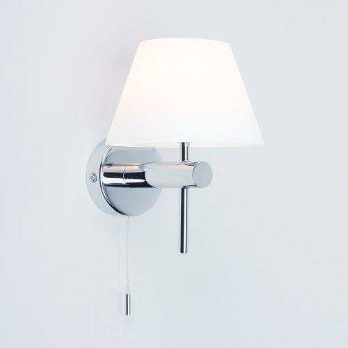 wandleuchte roma in chrom mit opalglas glas mit zugschalter zugschalter wohnlicht. Black Bedroom Furniture Sets. Home Design Ideas
