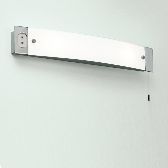 wandleuchte shaverlight mit zugschalter und steckdose wohnlicht. Black Bedroom Furniture Sets. Home Design Ideas