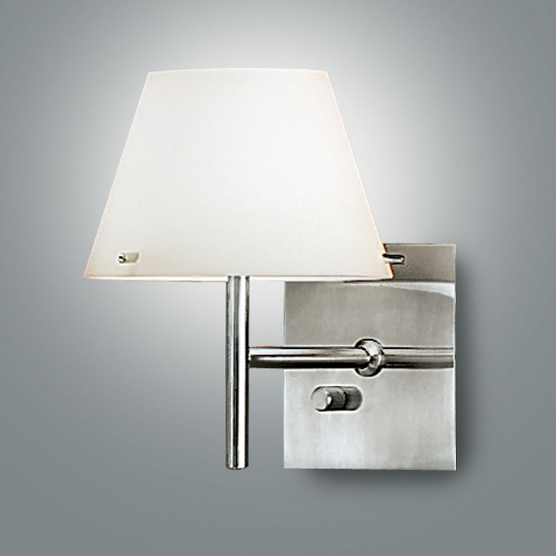 wandleuchte glas konisch mundgeblasen mit dimmer wohnlicht. Black Bedroom Furniture Sets. Home Design Ideas