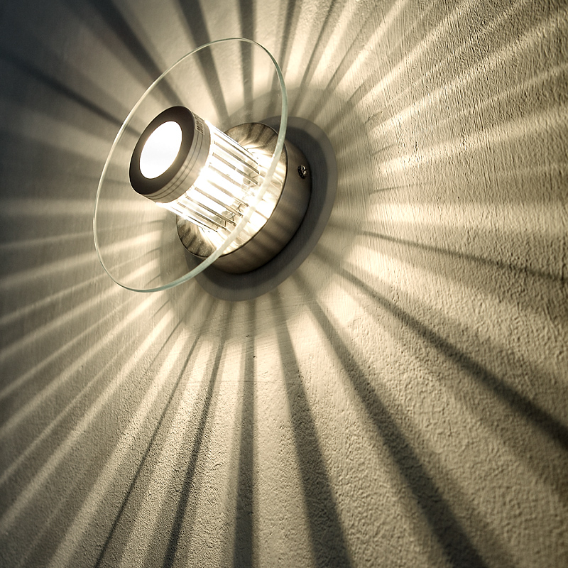 wand oder deckenleuchte mit tollem lichteffekt glas rund inklusive leuchtmittel wohnlicht. Black Bedroom Furniture Sets. Home Design Ideas